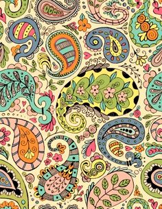 This paisley design would look great on an Easter egg!