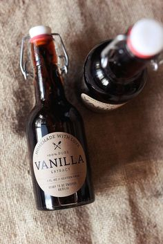 Homemade Vanilla Extract.  Easy, peasy and she has some suggestions for different flavors depending on the type of alcohol you steep the beans in.