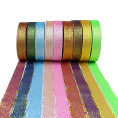 12x Colorful 1 Yard Luxury Velvet Ribbons for DIY Hair Accessories Craft 9mm