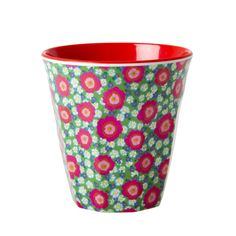The classic and absolutely indispensable medium RICE melamine cup with 'Peony' print. This cup is one of our most