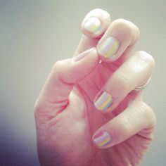 My rainbow nail art