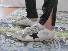 Golden Goose Leather Superstar Low Sneakers in White & Black Shoes Ads, Classic Sneakers, Sneakers Style, Shoe Boots, Shoe Bag, Golden Goose, Womens High Heels, Designer Shoes, Trainers
