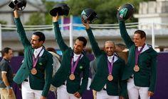 Saudi Arabia secures first historic team medal in Jumping at London 2012  ♥ — with Prince Abdullah bin Miteb, Kamal Bahamdan, Ramzy Al Duhami and Abdullah Sharbatly