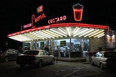 Leon's Custard, 3131 So. 27th, Milwaukee.   Open year-round.