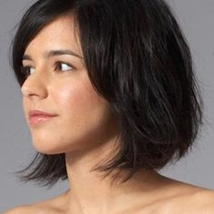 bob haircuts for round faces thick hair - Google Search