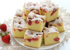 Strawberries And Cream Recipe, Fresh Strawberry Recipes, Italian Pastries, Italian Desserts, Ricotta, Breakfast Dessert, Dessert Bars, Cheesecake Recipes, Dessert Recipes