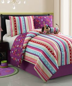 Take a look at this Lily Poodle Reversible Comforter Set by Victoria Classics on #zulily today!