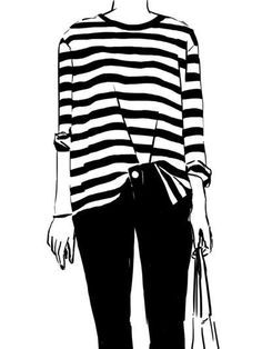 Stripes // illustration // DirtyLittleStyleWhoree