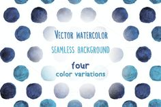 Check out Vector watercolor dots SALE 50% off! by IlirisDesign on Creative Market
