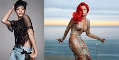 Rihanna - Photographed by Annie Leibovitz, Vogue, February 2014; Photographed by David Sims, Vogue, March 2014