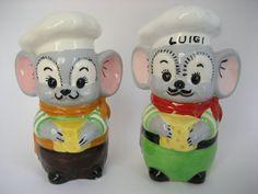 Vintage Porcelain Ceramic Chef Mice Salt and by BelleBloomVintage, $19.95
