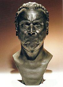 Ein mürrischer alter Soldat; 42cm; Gipsabguss.
