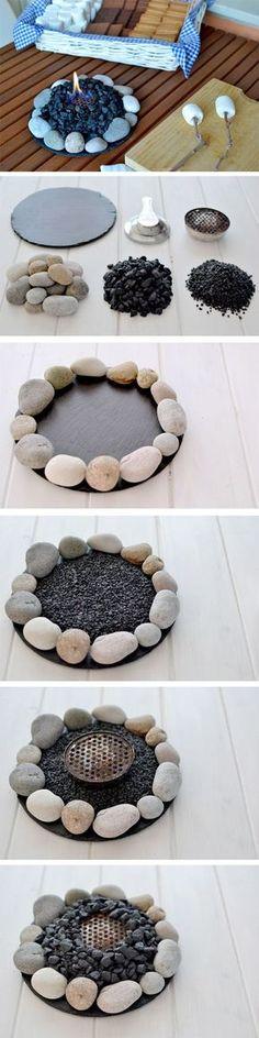 Or a Small Slate Fire at Home for S'mores Lovers. See the tutorial More