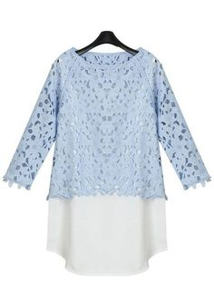 light blue layered lace ++