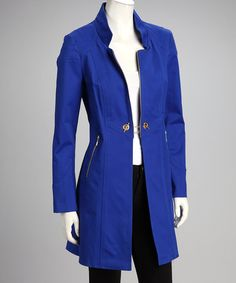 Take a look at this Royal & Gold Jacket by I-N-S-I-G-H-T New York on #zulily today!