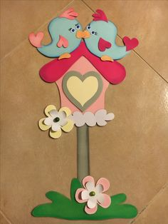 Spring birds # # # shed sweet love # # # nursery decoration - Ostern - Fall Classroom Decorations, School Decorations, Diy And Crafts, Crafts For Kids, Arts And Crafts, Paper Crafts, Spring Birds, Decorate Notebook, Baby Scrapbook