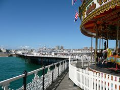 Brighton but just one hour away from London on the train from Victoria Station! Day Trips From London, Art Thou, Best Cities, How Beautiful, Brighton, Fair Grounds, Victoria, Train, City
