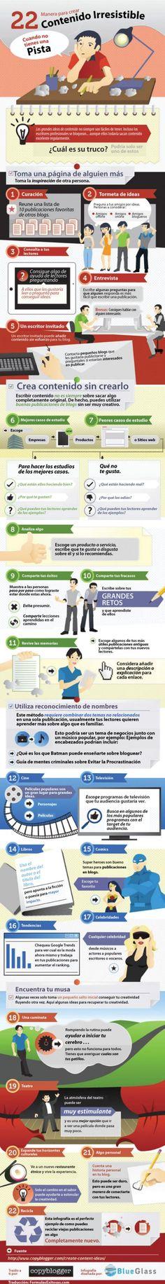 infografía ideas contenido blog