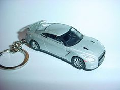 Diecast Nissan Skyline Gtr Gt-r Yellow Toy Car Keyring Keychain Fast Color R35