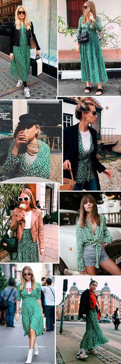 A estampa floral da marca dinamarquesa Ganni está presente em camisas, saias e vestidos e é a nova queridinha das fashion girls.