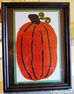 Pumpkin yarn art