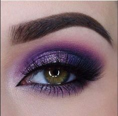 Make Up; Make Up Looks; Make Up Augen; Make Up Prom;Make Up Face; Purple Eye Makeup, Eye Makeup Tips, Makeup Inspo, Eyeshadow Makeup, Makeup Inspiration, Makeup Brushes, Beauty Makeup, Eyeliner, Makeup Ideas