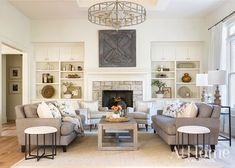 A young family brings their love of down-to-earth style with them as they settle in to a new Northwest Arkansas home Contemporary Living Room Furniture, Luxury Furniture, Small Living, Living Spaces, Living Rooms, Long Sofa, Sofa Styling, Cool Coffee Tables, Modular Sofa