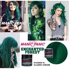 AMPLIFIED ENCHANTED FOREST manic panic green hair