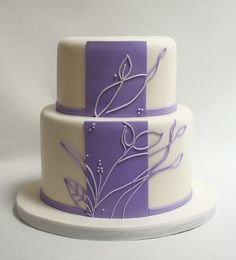 Purple Wedding Cakes | Purple and white abstract - Amazing Wedding Cakes and Sculpted