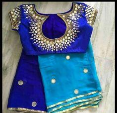 23 Best Pics of Rajasthani Mirror Work Blouse Designs Pattu Saree Blouse Designs, Blouse Designs Silk, Bridal Blouse Designs, Blouse Patterns, Simple Blouse Designs, Stylish Blouse Design, Mirror Work Blouse Design, Design Inspiration, Saris