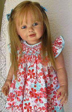 "Nancy's Lil Darlings CUSTOM Reborn PERLA by Jannie de Lange 35"" Toddler Child"