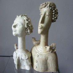 """Saints"", Sculpture, ceramics, 2009, by Anna Plonka"