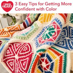 3 Easy Tips for Getting More Confident with Color - If you're like me, you probably tend to use the same color yarns over and over again. This can be a good thing if those colors make you excited about crocheting and knitting. But, for so many of us, sticking to the same colors actually puts us into a creative rut. In this post, I'm going to share 3 easy tips for getting out of your color comfort zone to keep your projects fun and to keep you inspired about your favorite crafts!