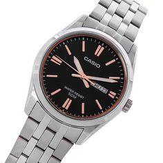 MTP-1335D-1A2 Casio Watch Gents Watches, Watches For Men, Casio Quartz, Mens Watch Brands, Couple Watch, Casio Watch, Stainless Steel Case, Quartz Watch, Omega Watch