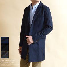 Audience/オーディエンス ピュアウールメルトンチェスターコート 贅沢な素材感でワンランク上のおしゃれを   Audience/オーディエンス     メンズファッションinfoabso通販