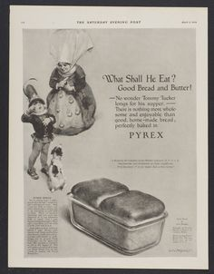 Pyrex Bread recipe from advertisement #Pyrex100