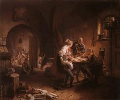 """""""Die Dorfschule"""", 1845. Eduard Ritter (1808-1853). Private collection."""