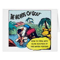 "Big (8.5"" x 11"") Golfing Humor Card - personalize custom customizable"