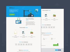 Desktop landing page by Rob Simpson
