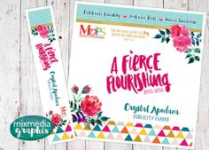 Fierce Flourishing Binder Cover by MixMediaGraphix on Etsy