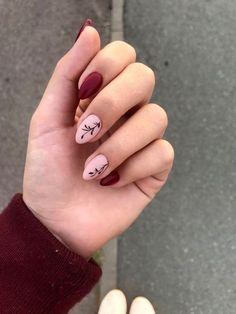 Nail art Christmas - the festive spirit on the nails. Over 70 creative ideas and tutorials - My Nails Minimalist Nails, Hot Nails, Pink Nails, Glitter Nails, Stylish Nails, Trendy Nails, Tropical Nail Art, Red Nail Art, Oval Nail Art