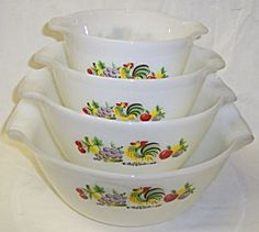 Anchor Hocking Fire King CHANTICLEER MIXING BOWL Set/4. Click on the image for more information.