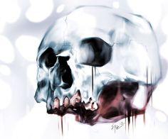 Skull sketch in Photoshop by Eric Pineda.  www.playkill.com