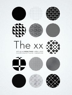 The Xx - Jj - Nosaj Thing gig poster by Sharon Laurilla Band Posters, Cool Posters, Music Posters, Graphic Prints, Poster Prints, Graphic Design, Gig Poster, 3d Foto, Print Layout