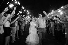 Sparklers instead of rice #wedding