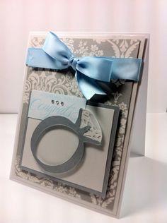 Wishing You Congrats card using Cricut Bridal Shower cartridge by Melanie at Everyday Cricut