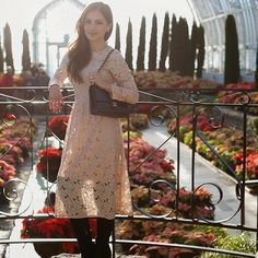 Surrounded by poinsettias on MiaMiaMine.com today #ootd #style #fashion