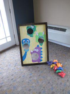 Dinosaur bean bag toss Dinasour Party, Dinasour Birthday, Dinosaur Birthday Party, 4th Birthday Parties, Birthday Party Decorations, Boy Birthday, Birthday Ideas, Jurassic Park Party