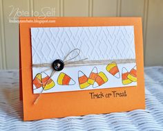 Note To Self: Ribbon Carousel Challenge 73- Halloween & A Winner!