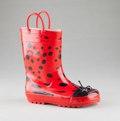 Kids Lady Bug Rain Boots.